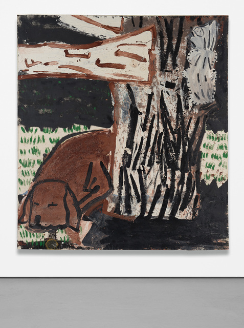 Rose Wylie, 'Green Grass, White Cat', 1997, Phillips