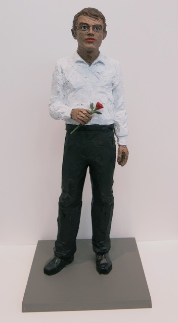 , 'Man with Rose,' 2016, Galerie Thomas