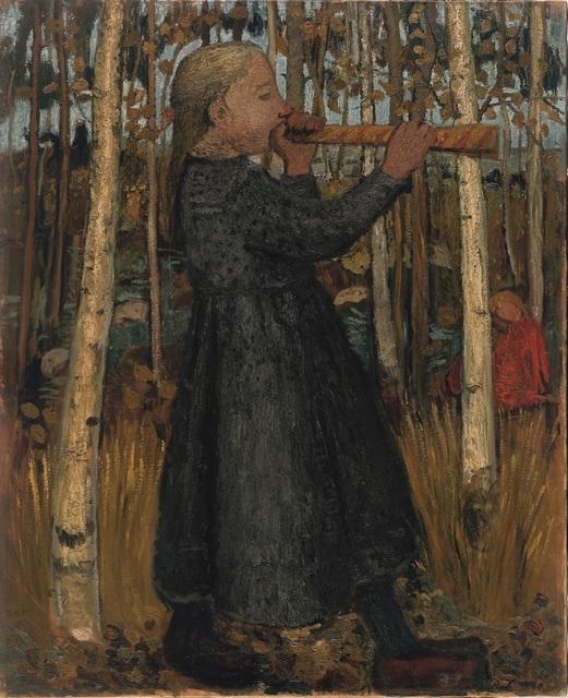 , 'Jeune Fille Jouant de la Flûte dans la Forêt de Bouleaux (ou Jeune Fille au Chalumeau) ,' 1905, Musée d'Art Moderne de la Ville de Paris