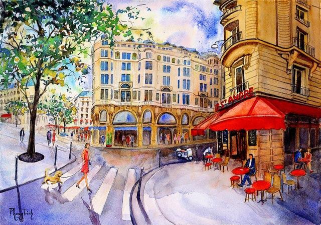 , 'Café St. André,' , Emillions Art