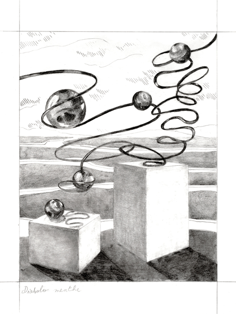 Audrey Matt Aubert, 'Diabolo menthe', 2020, Drawing, Collage or other Work on Paper, Graphite on paper, Isabelle Gounod