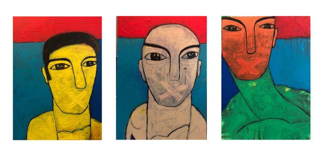 , 'The Three Negotiators / المفاوضون الثلاث,' , al markhiya gallery