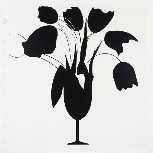 , 'Black Tulips and Vase, Feb 26, 2014, ed. of 50,' 2014, Tayloe Piggott Gallery