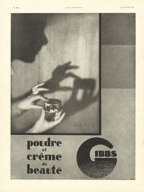 , 'Advertising Gibbs ,' 18 January 1930, Jeu de Paume