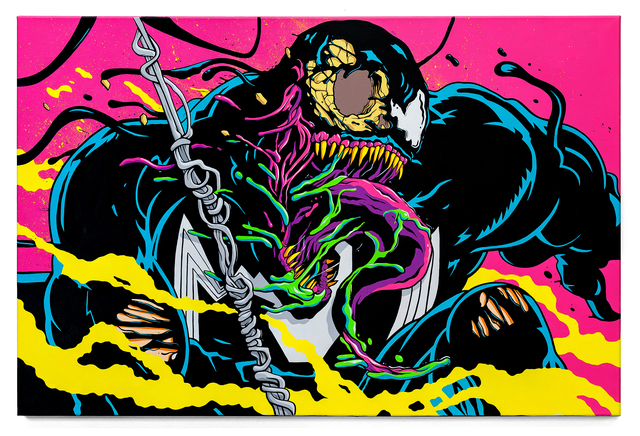 , 'Neon Symbiote,' 2018, Avenue des Arts