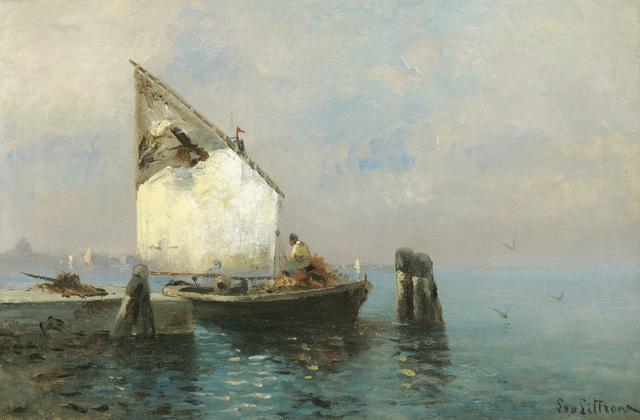 , 'Fishing boat on the mole,' 1881, Galerie Kovacek