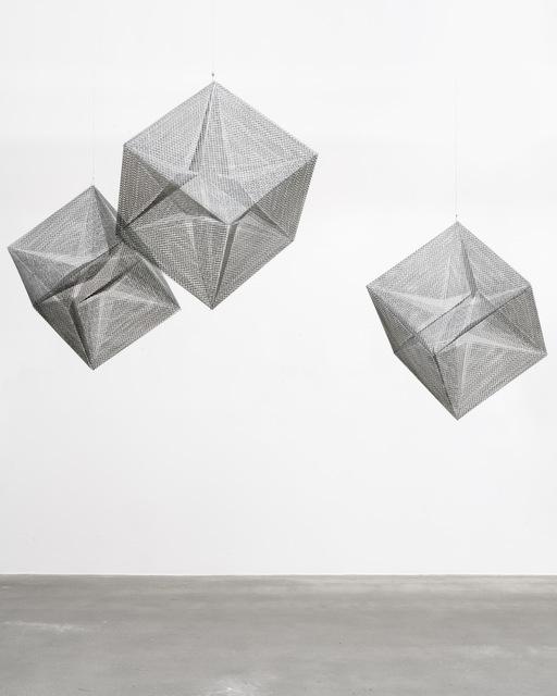 Lydia Okumura, 'Cube 1,2,3', 1984, Installation, Stainless steel wire mesh, Thaddaeus Ropac