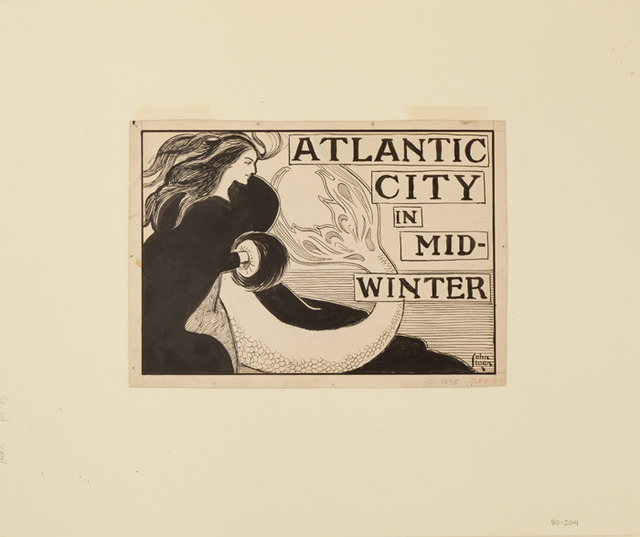 ", 'Atlantic City in Mid Winter for ""Atlantic City in Mid-Winter,"" in Philadelphia Inquirer ,' December 16-1894, Delaware Art Museum"