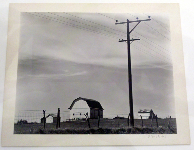 , 'Untitled ~ Barn & Telephone Poles,' 1941, Weston Gallery