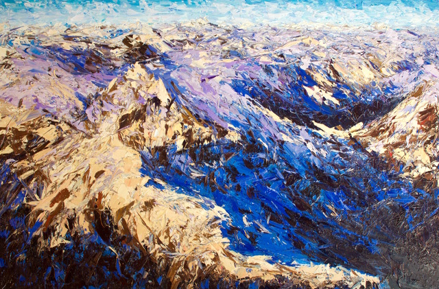 , 'Sunrise Over the Darran Mountains,' 2017, Rebecca Hossack Art Gallery