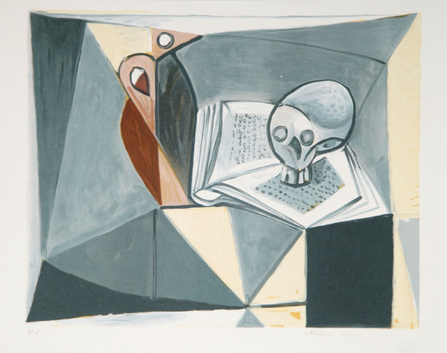 Pablo Picasso, 'Tete de Mort et Livre, 1946', 1979-1982, Print, Lithograph on Arches paper, RoGallery