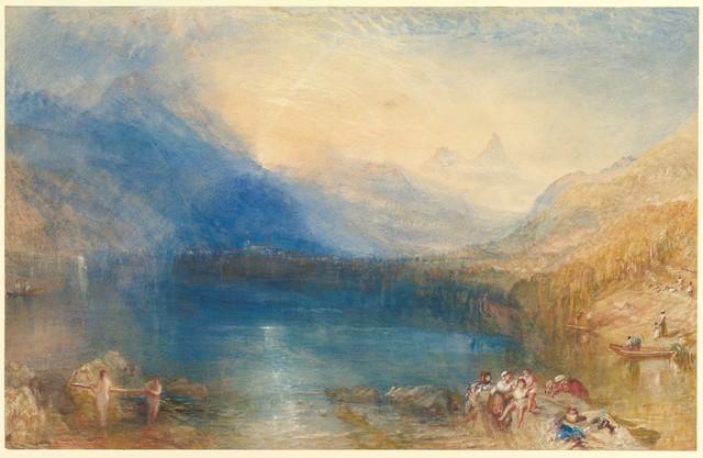 J. M. W. Turner, 'The Lake of Zug', 1843, The Metropolitan Museum of Art