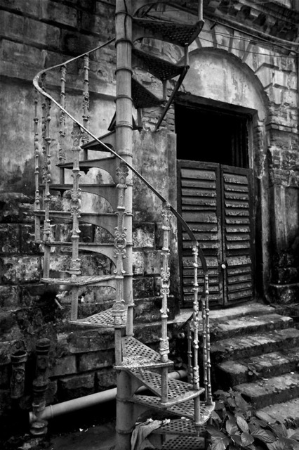 , ''Rear staircase', Colonial period mansion, Calcutta,' 2013, Sundaram Tagore Gallery