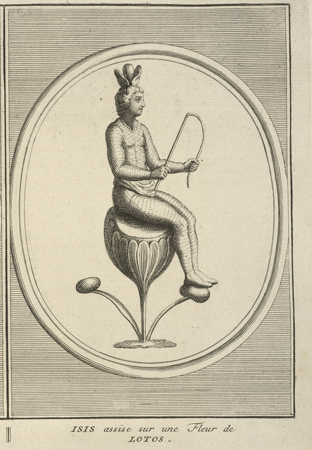 Bernard Picart, 'Isis Seated on a Lotus Flower', 1723-1743, Getty Research Institute