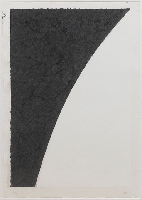 , 'Colored Paper Image I (White Curve with Black I),' 1976, Susan Sheehan Gallery