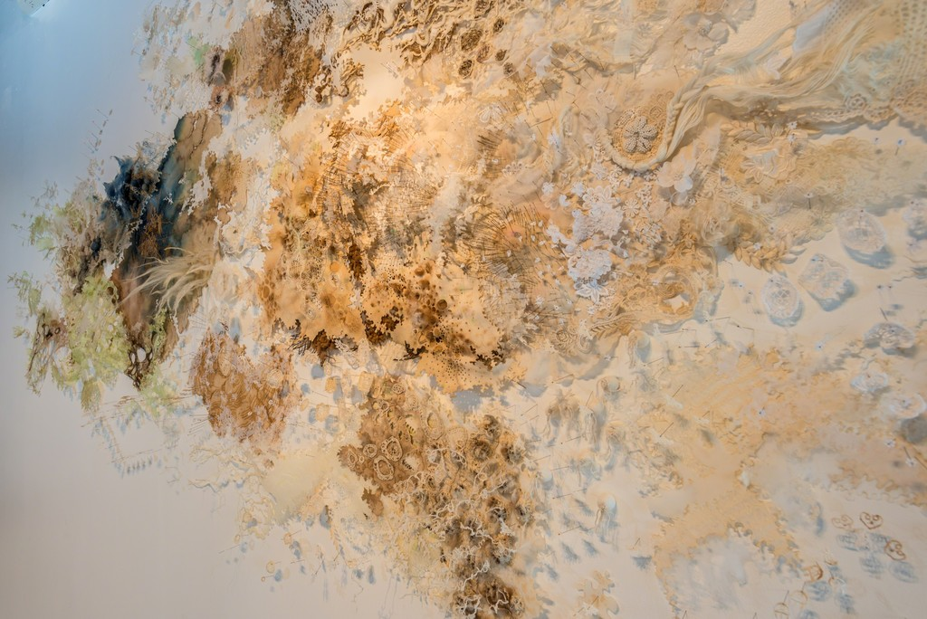 """Cartographie Feminine"" Detail, Mixed Media, Griselle Gaudnik.