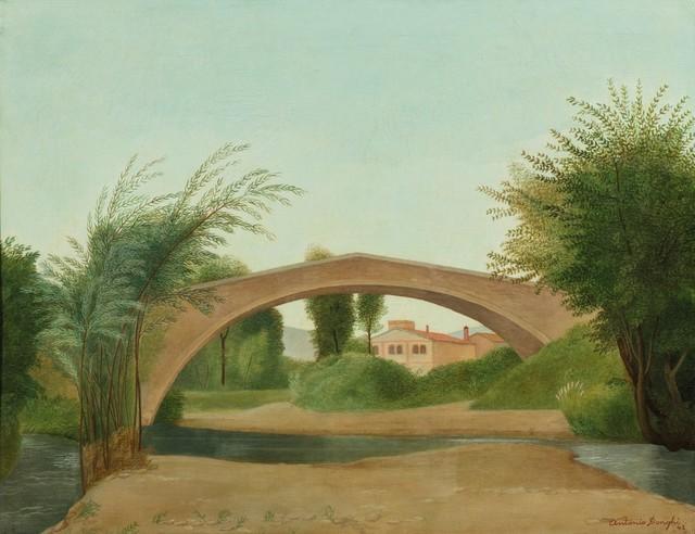 Antonio Donghi, 'Landscape with bridge', Finarte