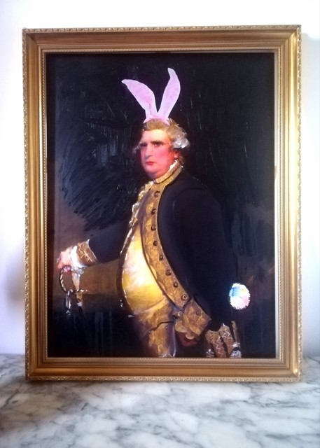 , 'Bunny Boy: Portrait of Admiral Augustus Keppel 1779 wearing Bunny Ears and Fluffy Tail,' 2019, Contemporary Collective