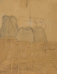 Two Nuns and Orphans in a Church