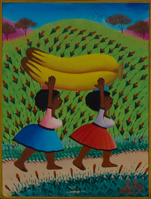 Jacques-Richard Chery, 'Untiled ', early '90, Painting, Oil on masonite, Haiti Collection Privee