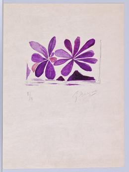 Georges Braque, 'Lettera Amorosa, Fleurs de l'air, Page 25', 1963, Galerie Maximillian