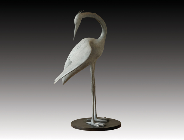 , 'Blue Heron Preening,' , Robert Hooke Sculpture Gallery