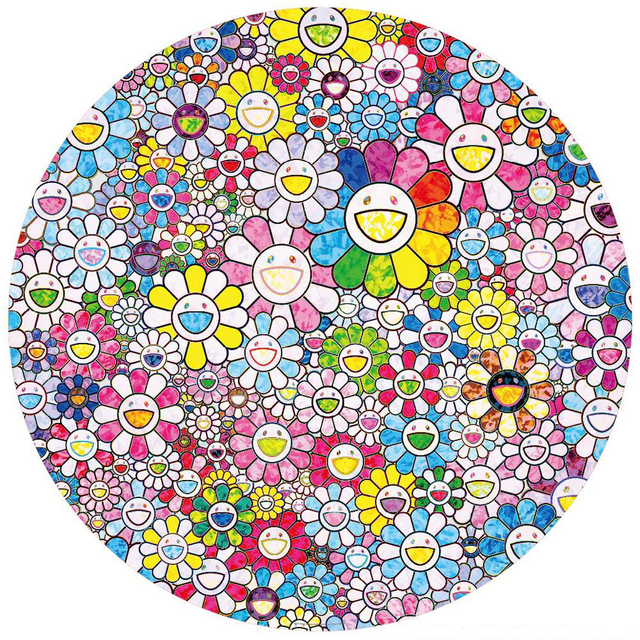 Takashi Murakami, 'Happy x A Trillion Times: Flowers', 2020, Print, Offset lithograph, Vogtle Contemporary
