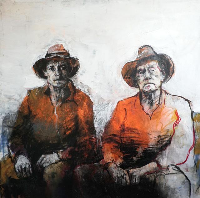 , 'Père et fils/ original painting on canvas,' 2019, Galerie Estampe