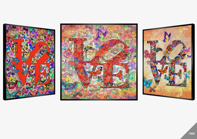 Patrick Rubinstein, 'LOVE', Mixed Media, Pleated Card, Hazelton Fine Art Galleries