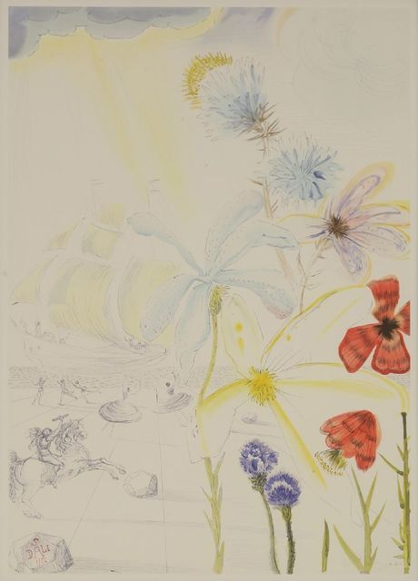 Salvador Dalí, 'Ship and Flowers', 1986, Sworders