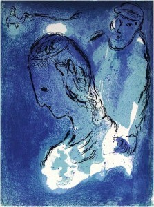 Marc Chagall, 'Abraham and Sarah', 1956, Baterbys