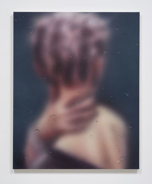 , 'Untitled Painting w/ Trompe L'oeil (Blurred Image),' 2016, Ghebaly Gallery