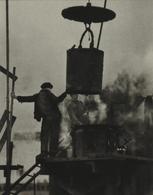 Alvin Langdon Coburn, 'The tunnel Builders, New York', ca. 1912, °CLAIR Galerie