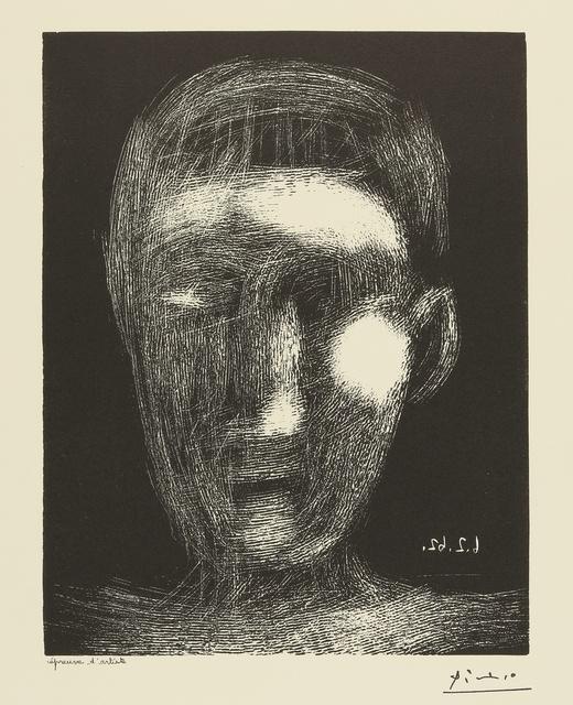 Pablo Picasso, 'Tête de garcon. II (B. 1025; Ba. 1289)', 1962, Sotheby's