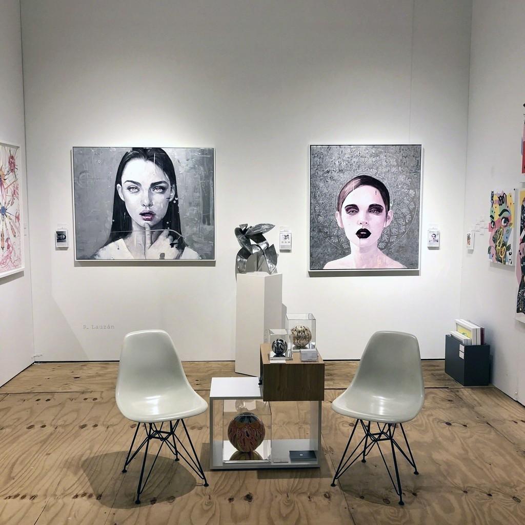 Market Art + Design - Booth 705 - Works by Roldán Lauzán ( painter ) and Carlos González ( sculptor)
