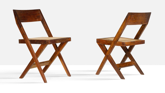 Pierre Jeanneret, 'Set of 2 library chairs', Circa 1959, Aguttes