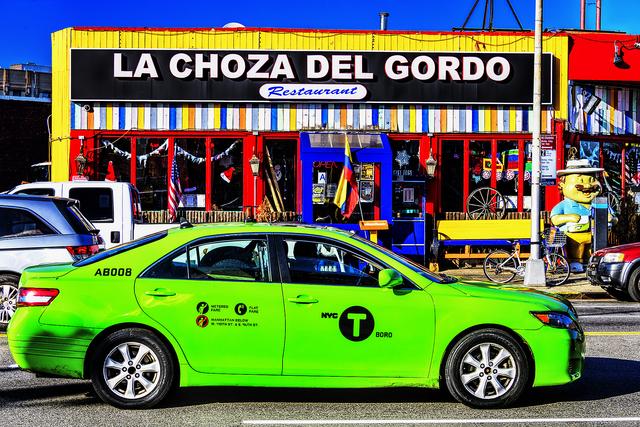 Mitchell Funk, 'Green Taxi and La Choza del Gordo', 2019, Robert Funk Fine Art