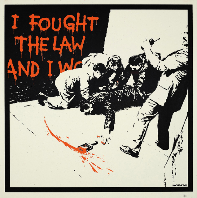 Banksy, 'I FOUGHT THE LAW', 2005, Gallery Art