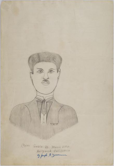 Joseph Yoakum, 'Clark Gable Sr. Movie Actor Hollywood California', n.d., Cavin-Morris Gallery