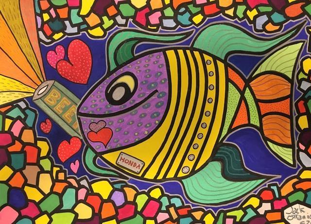 Jack Ottanio, 'I love beer', 2020, Painting, Acrylic on canvas, SmART Coast Gallery