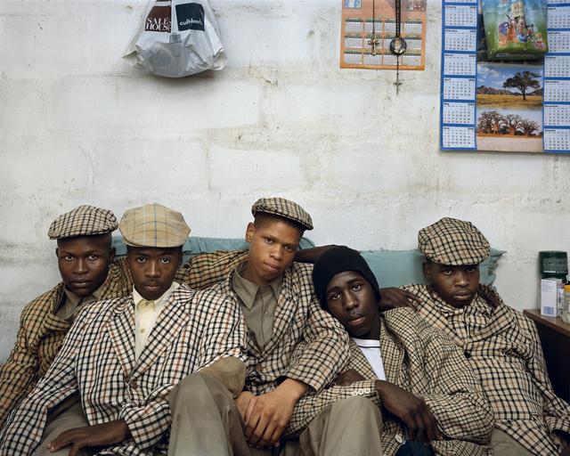 , 'Loyiso Mayga, Wandise Ngcama, Lunga White, Luyanda Mzantsi, and Khungsile Mdolo after their initiation ceremony, 2008,' , PRISKA PASQUER