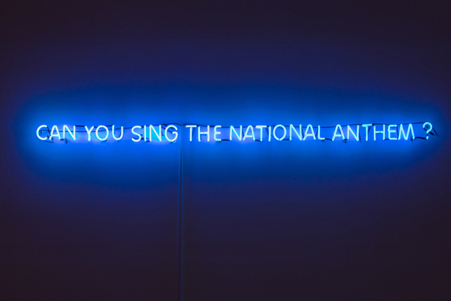 , 'Can you sing the national anthem?,' 2015, Lyla Gallery