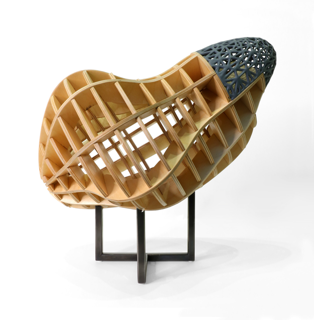 Michael Beatty, 'Inside Out', 2020, Sculpture, Birch plywood, resin, welded steel and paint, Krakow Witkin Gallery