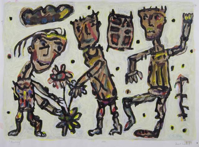 David Larwill, 'Planting', 1999, Painting, Acrylic on paper, Angela Tandori Fine Art
