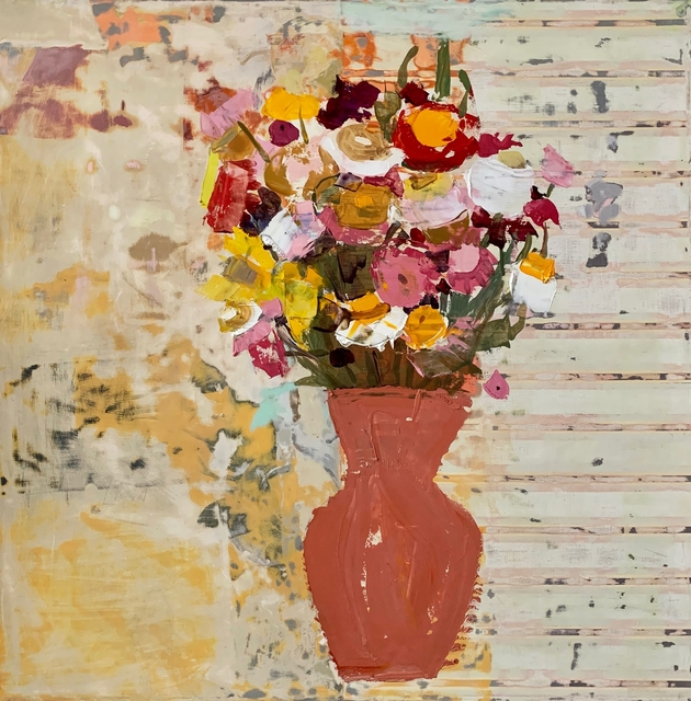 Sydney Licht, 'Still Life with Flowers in Vase', 2020, Painting, Oil on linen, Kathryn Markel Fine Arts