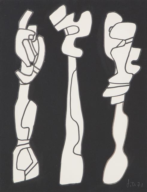 , 'Trois arbres,' 28.01.1971, Galerie Knoell, Basel
