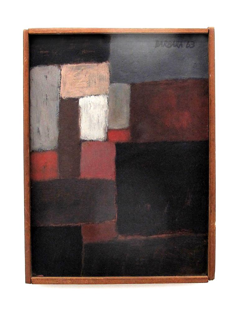 Acrylic on Wood 23X17cm 1963 U$ 2500