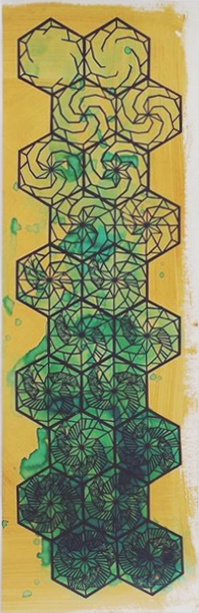 Swoon, 'Braddock Tiles', 2015, Print, Silkscreen with hand-painting on coffee stained paper, Taglialatella Galleries