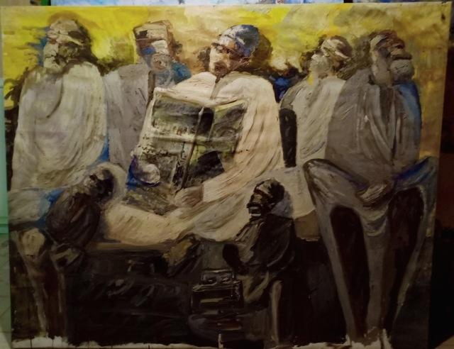 ABDELRAZEK OKASHA, 'Grandpa reafing morning newspaper', 2018-2019, Artscoops