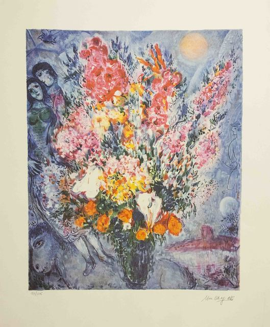 Marc Chagall, 'Bouquet and Lovers', 2000, The Munn Collection
